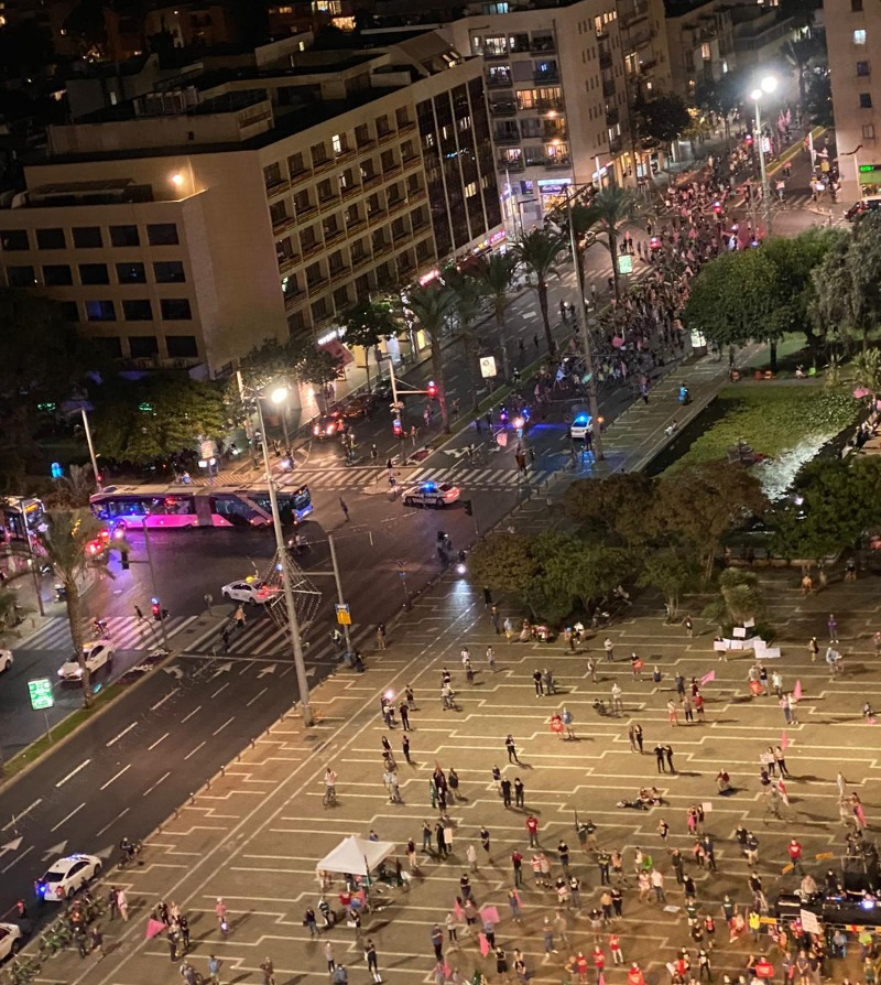 המחאה בכיכר רבין