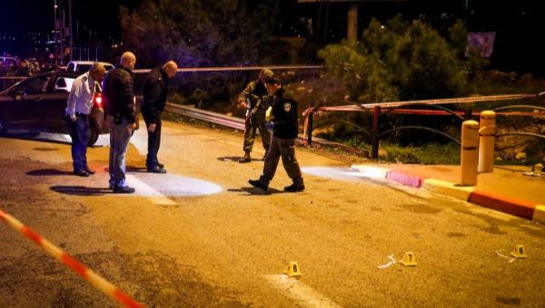 זירת הפיגוע בצומת עפרה, בה נרצח התינוק