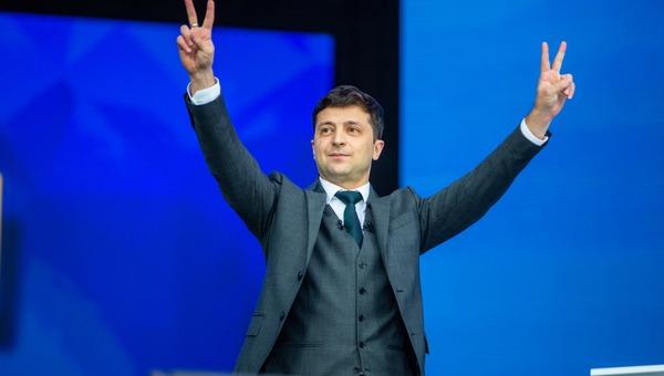 נשיא אוקראינה החדש, ולדימיר זלנסקי