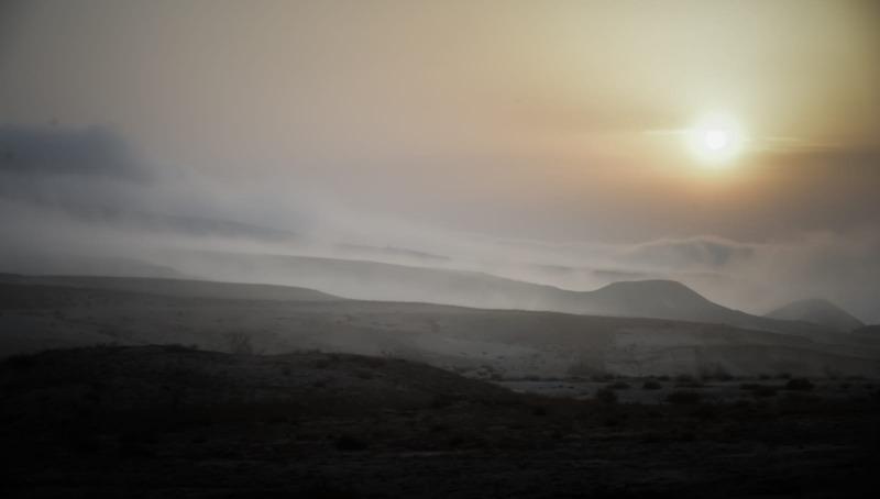 גלישת עננים ליד מדרשת שדה בוקר