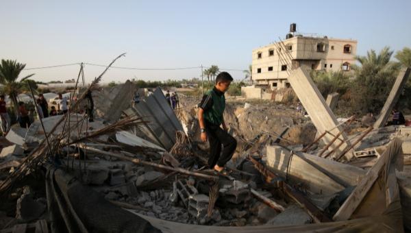 תוצאות תקיפה ישראלית בעזה, אמש