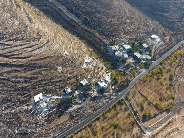 תצלום אוויר של האזור המיועד להריסה