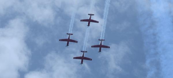 אימוני חיל האוויר לקראת המטס, הבוקר