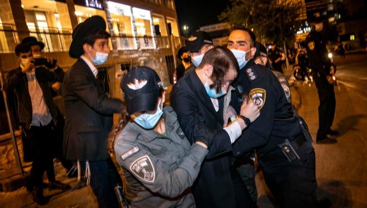 עימותים בירושלים במהלך הסגר הקודם.