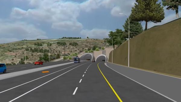 הדמיית הכפלת כביש המנהרות