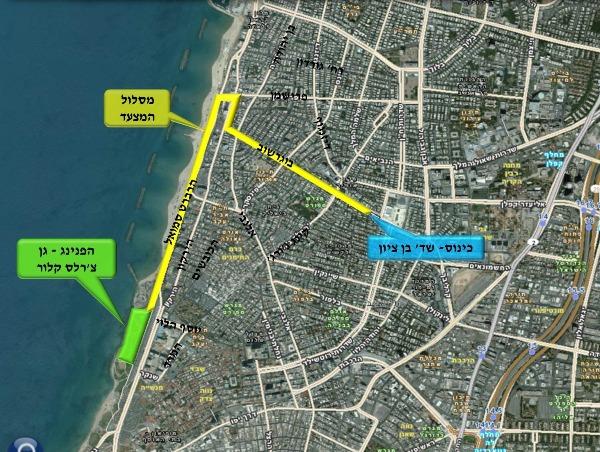 מסלול מצעד הגאווה בתל אביב