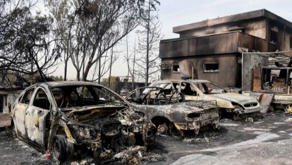 נזקי השרפה במבוא מודיעים