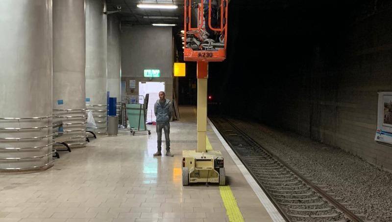 עבודות שדרוג בתחנות הרכבת