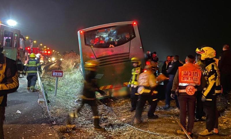 האוטובוס אחרי התאונה