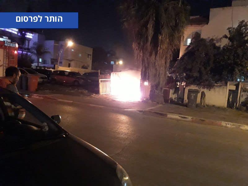הרכב שנשרף ברמלה הערב