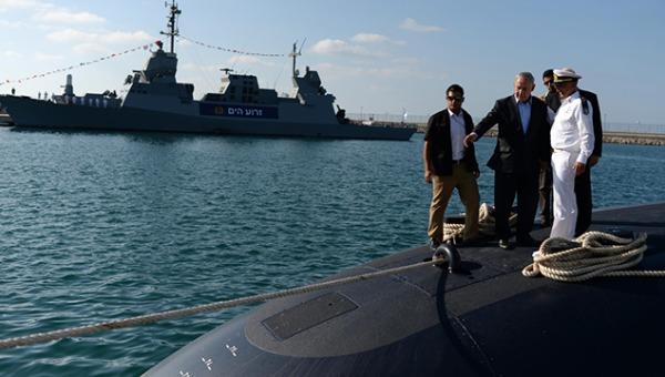 נתניהו על הצוללת החדשה של חיל הים, ספטמבר 2014