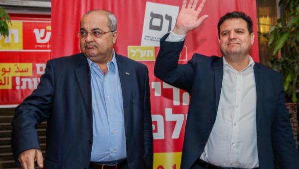 """ראשי מפלגת חד""""ש-תע""""ל, אחמד טיבי ואיימן עודה"""