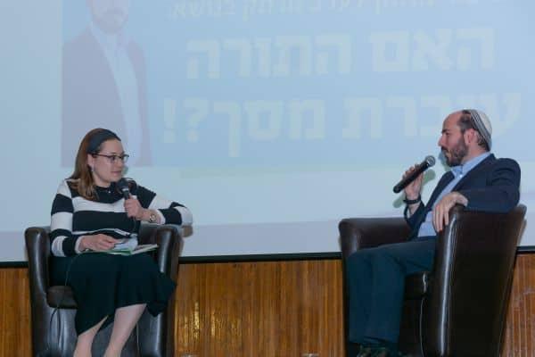 הרב יוני לביא וסיון רהב מאיר בשיחה