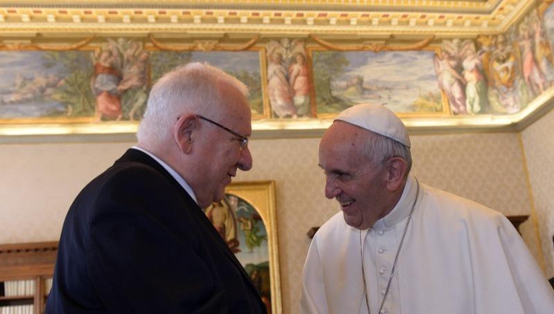 הנשיא ריבלין עם האפיפיור
