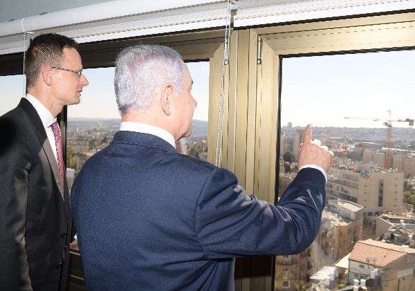 נתניהו עם שר החוץ ההונגרי