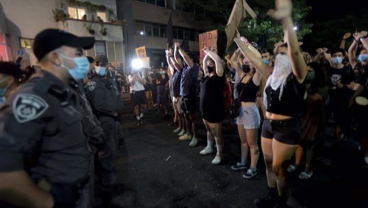 ההפגנות בתל אביב, אמש