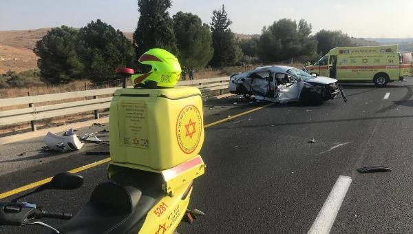 תיעוד התאונה בכביש 6