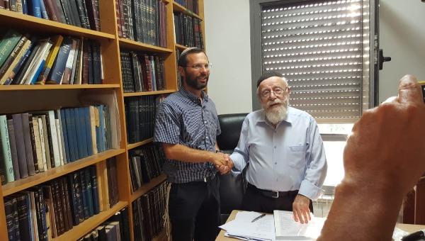 ישראל גנץ והרב ליאור