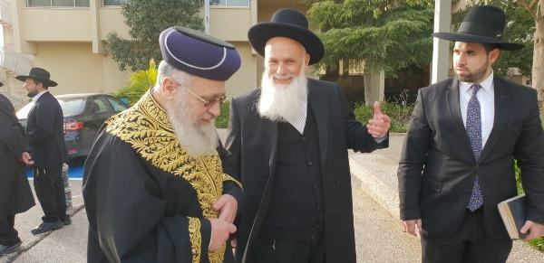 הרב יוסף עם הרב דוד מלכא