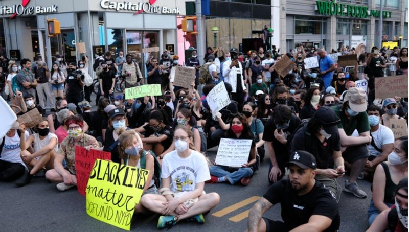 הפגנה בניו יורק