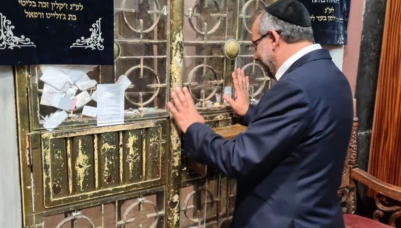 השר יעקב אביטן במערת המכפלה