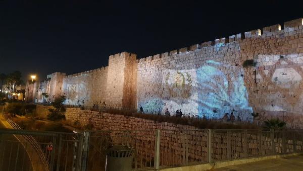 דגל גווטאמלה מעטר את חומות ירושלים
