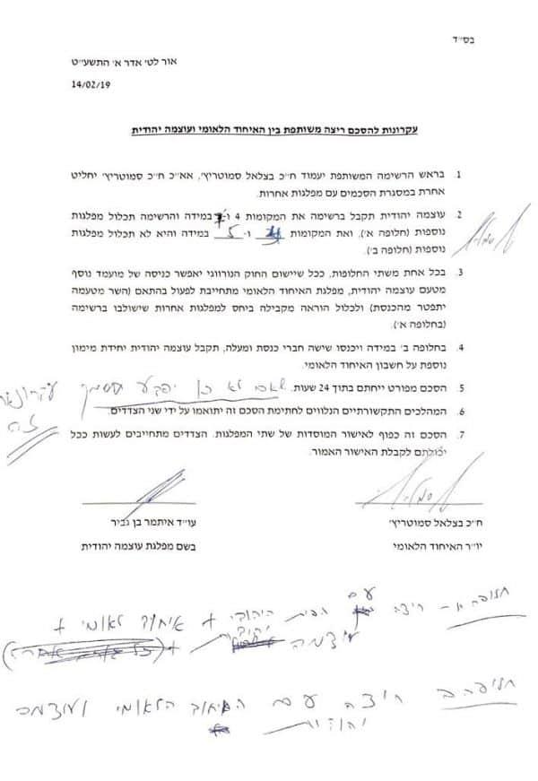 ההסכם שצולם בהחבא