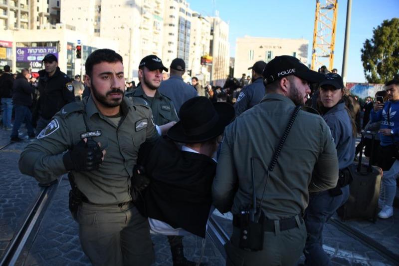 הפגנת הפלג הירושלמי: פקקי ענק בכניסה לירושלים