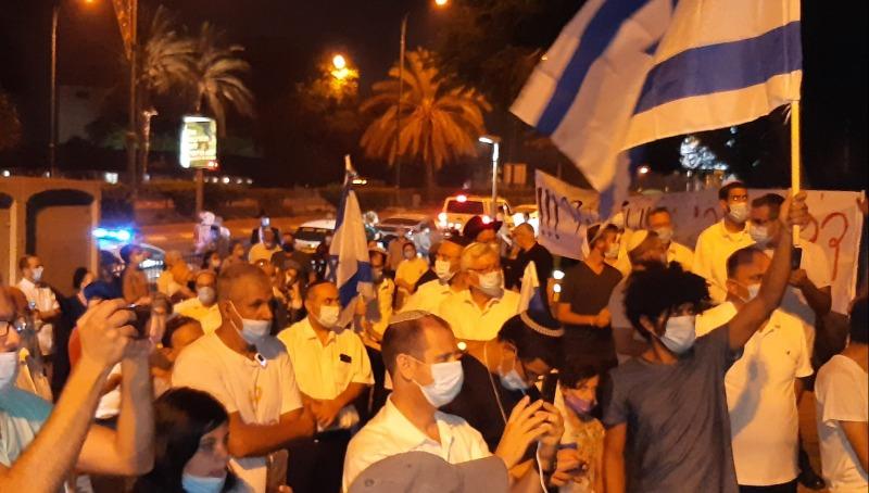 המפגינים בצומת סגולה
