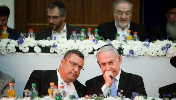 ראש הממשלה נתניהו וראש עיריית ירושלים ליאון בישיבת מרכז הרב