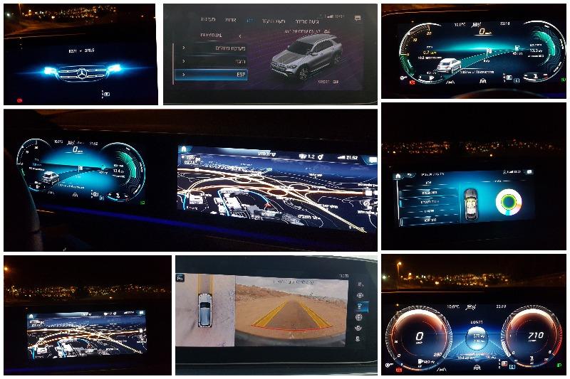 מופע טכנולוגי מרשים בלוח השעונים המאפשר לתפעל ולשלוט במערכות הרכב הרבות