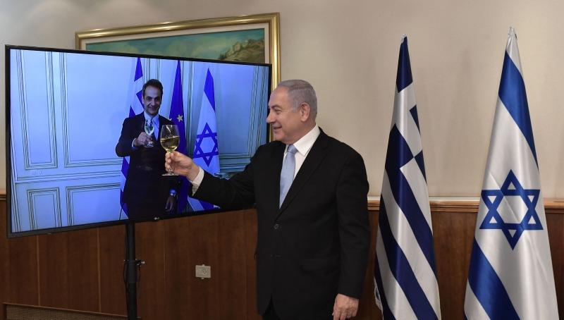 נתניהו עם ראש ממשלת יוון