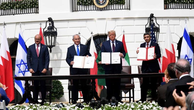 החתימה על הסכם השלום בין ישראל ובחריין