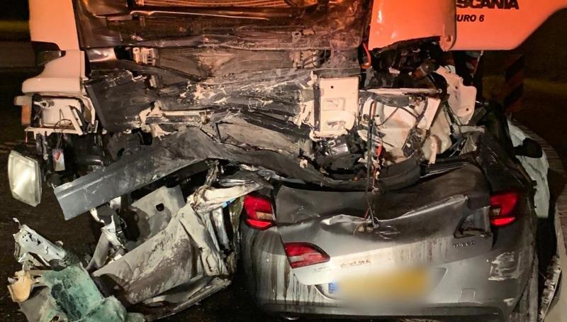 מזירת התאונה בכביש 79
