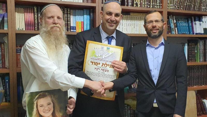 ישראל גנץ, יאיר רביבו והרב איתן שנרב