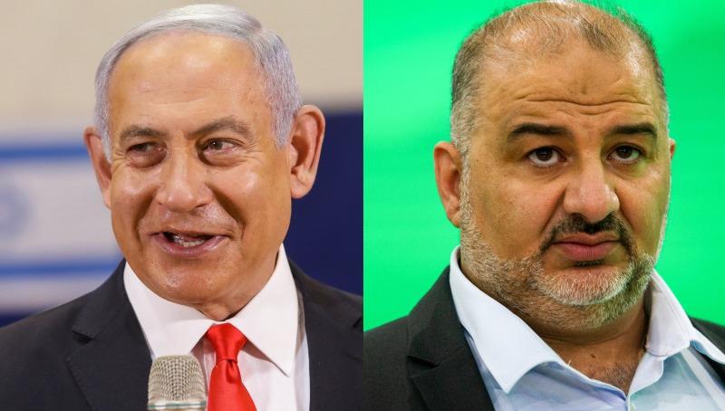 48% מהציבור בעד תמיכה מבחוץ של המפלגות הערביות. עבאס ונתניהו