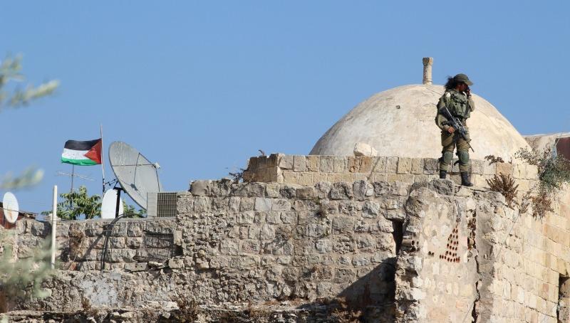"""דגל אש""""ף בירושלים"""