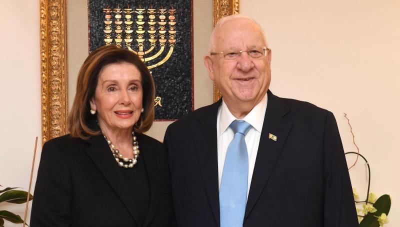 ריבלין ופלוסי בבית הנשיא