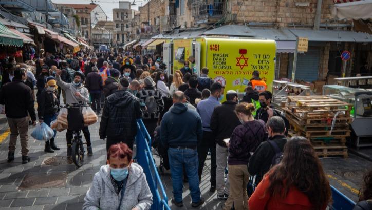 תחת חיסון ניידת בשוק מחנה יהודה, אתמול
