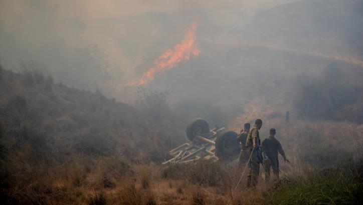 שריפה אתמול סמוך לקיבוץ בארי