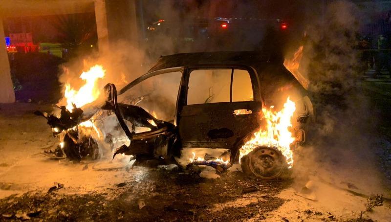 רכב שפוצץ בלוד