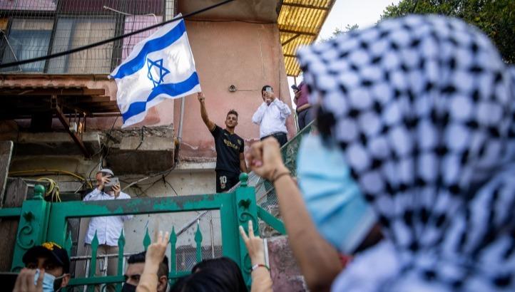 הפגנה נגד כניסת משפחות יהודיות לאזור שמעון הצדיק-שייח