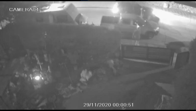 תיעוד רגע הירי במצלמת האבטחה