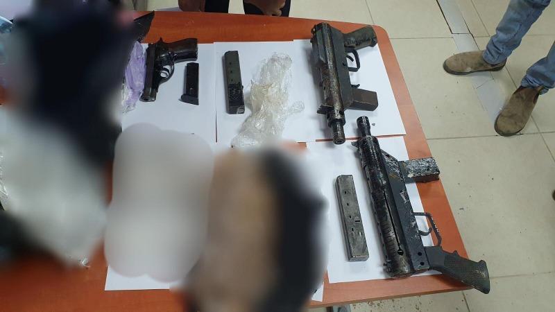 הנשקים שנתפסו בגן הילדים