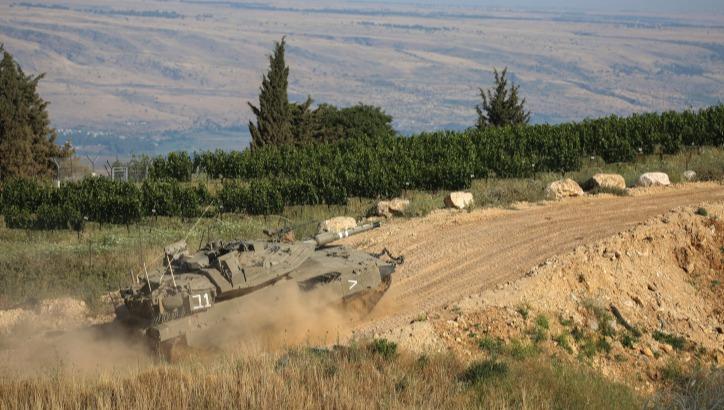 הגזרה עדיין חמה. טנק בגבול לבנון