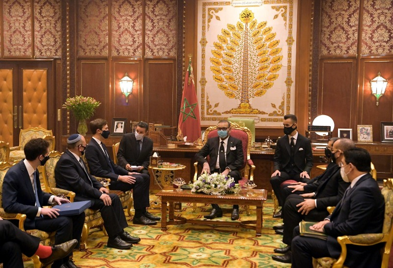 פגישת המשלחות ומלך מרוקו