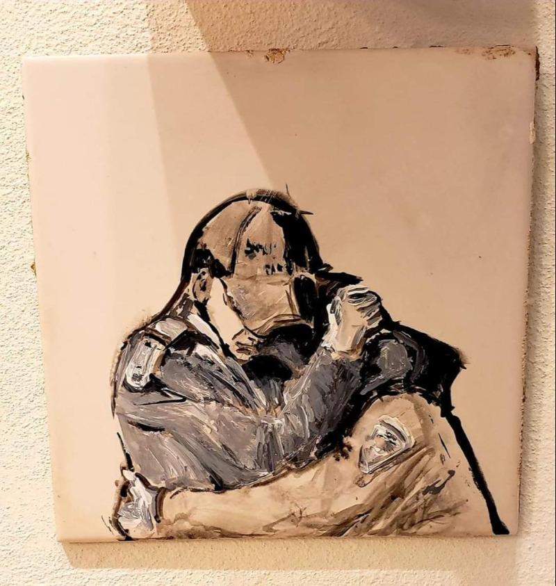 אחד מציורי החיילים בגלריה של ורד