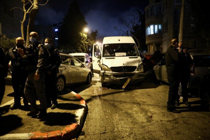המשטרה בזירת האירוע בירושלים, בתחילת השבוע