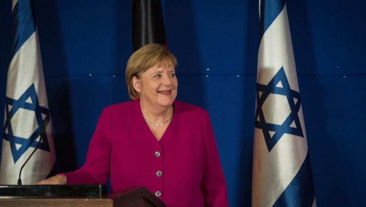 אנגלה מרקל בביקורה בישראל ב-2018