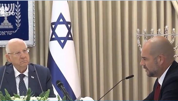 השר אוחנה והנשיא ריבלין בדיוני ההמלצות